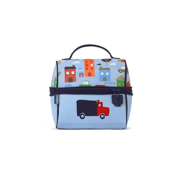 8223faf66a3f8 ... Lunchbox z zamkiem na środku niebieski w autka Penny Scallan ...