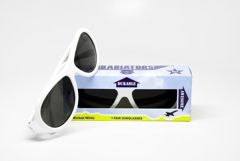 babiators okulary wicked white (0 3 lata) babiators na DAMY