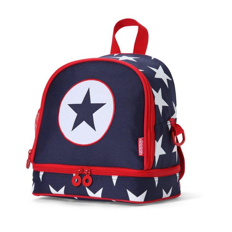 5a6a702459b20 Plecak dla malucha z kieszenią na drugie śniadnie - granatowa w gwiazdy  Penny Scallan ...