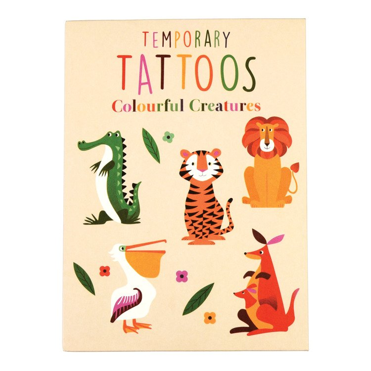 Zmywalne Tatuaże Dla Dzieci Zwierzaki Rex London