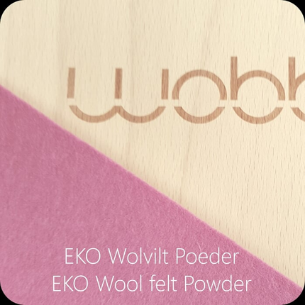 Deska do balansowania Wobbel Original z filcem - powdery pink
